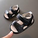 ieftine Pantofi Băieți-Băieți Pantofi PU Primavara vara Primii Pași Sandale Bandă Magică pentru 0-12 Luni Negru / Maro