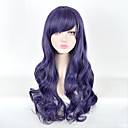 cheap Synthetic Lace Wigs-Synthetic Wig Curly Side Part Synthetic Hair 28inch Cosplay / Party Purple Wig Women's Short Capless