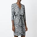 cheap Drawing Toys-Women's Street chic Sheath Dress - Leopard Print