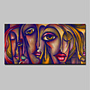 povoljno Ulja na platnu-Hang oslikana uljanim bojama Ručno oslikana - Ljudi / Pop art Klasik / Moderna Platno