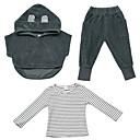 ieftine Seturi Îmbrăcăminte Băieți-Copil Băieți De Bază Mată Manșon Lung Set Îmbrăcăminte
