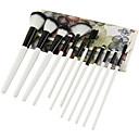 baratos Strass & Decorações-12pcs Pincéis de maquiagem Profissional Conjuntos de pincel Fibra de Nailom Amiga-do-Ambiente / Macio De madeira / bambu