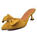 povoljno Ženske sandale-Žene Cipele PU Ljeto D'Orsay cipele Klompe i natikače Sitna potpetica Okrugli Toe Mašnica Crn / Bijela / Pink