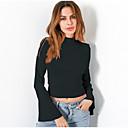 baratos Baterias Externas-Mulheres Camiseta Básico / Moda de Rua Sólido
