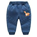 tanie Spodnie dla chłopców-Dzieci Dla chłopców Podstawowy Solidne kolory Poliester Spodnie Niebieski 100