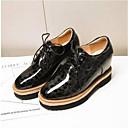 זול נעלי ספורט לנשים-בגדי ריקוד נשים נעליים גומי / דמוי עור אביב / קיץ נוחות נעלי אוקספורד מטפסים בוהן סגורה שחור / בורדו