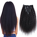 זול תוספות שיער סינטטיות-Clip In / On תוספות שיער אדם Kinky Straight טבעי שחור תוספות שיער משיער אנושי שיער אנושי שיער ברזיאלי 7 יח ' הגעה חדשה / לנשים שחורות בגדי ריקוד נשים
