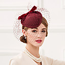 cheap Party Headpieces-Tulle / 100% Wool Hats with Bowknot 1pc Wedding / Party / Evening Headpiece