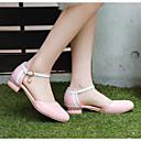 ieftine Sandale de Damă-Pentru femei Pantofi PU Vară Confortabili / Balerini Basic Tocuri Toc Îndesat Alb / Roz / Albastru Deschis