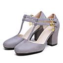 ieftine Tocuri de Damă-Pentru femei Pantofi Piele de Căprioară Primăvară Confortabili Tocuri Toc Îndesat Negru / Gri / Rosu