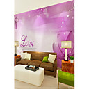 cheap Wall Murals-Wallpaper / Mural Canvas Wall Covering - Adhesive required Floral / Art Deco / Pattern