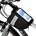 preiswerte Körperschmuck-Handy-Tasche / Fahrradrahmentasche 6 Zoll Touchscreen, Reflexstreiffen Radsport für Radsport / Alles Handy Schwarz / 600D Polyester