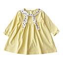 ieftine Seturi Îmbrăcăminte Fete-Copil Fete Mată / Buline Manșon Lung Rochie