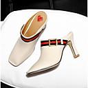halpa Naisten sandaalit-Naisten Kengät Nappanahka Kevät Comfort Sandaalit Stilettikorko Musta / Beesi