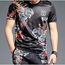 baratos Adesivos de Parede-Homens Camiseta Estampado, Sólido / Animal / Letra