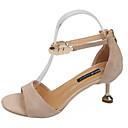 ieftine Sandale de Damă-Pentru femei PU Vară Pantofi pe Gleznă Sandale Toc Mic Negru / Kaki
