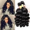 お買い得  人毛つけ毛-3バンドル マレーシアンヘア ウェーブ 8A 未処理人毛 人間の髪編む ペニス増強 8-28 インチ ナチュラル 人間の髪織り 最高品質 ホット販売 黒人女性用 人間の髪の拡張機能 女性用