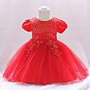 ieftine Set Îmbrăcăminte Bebeluși-Bebelus Fete Vintage Ieșire Mată Manșon scurt Lungime Genunchi Bumbac Rochie