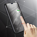 ieftine Cazuri telefon & Protectoare Ecran-Maska Pentru Samsung Galaxy J8 / J6 Cu Stand / Placare / Oglindă Carcasă Telefon Mată Greu PU piele pentru J8 / J7 Duo / J6