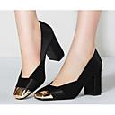 abordables Tacones de Mujer-Mujer Zapatos Piel de Oveja Primavera / Otoño Confort / Pump Básico Tacones Tacón Cuadrado Negro / Verde Ejército / Verde