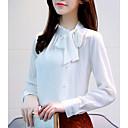 hesapli Moda Küpeler-Kadın's Pamuklu Bluz Solid Çalışma