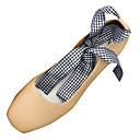 ieftine Sandale de Damă-Pentru femei PU Vară Pantofi pe Gleznă Tocuri Toc Îndesat Vârf pătrat Negru / Bej / Maro Deschis / Zilnic