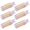 baratos Adesivos de Unhas-5 w g9 led milho luz 88 leds 2835 smd ac 100-240 v para a luz da parede lustre de iluminação casa fria / branco quente (6 pcs)