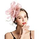 billige Festhovedtøj-Dame Vintage / Elegant Hårbånd / Hårclips / fascinator Blomst, Ensfarvet