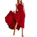 hesapli Düğün Mendilleri-Kadın's Kılıf Elbise - Solid Asimetrik