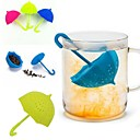 cheap Coffee and Tea-Umbrella Tea Infuser Silicone Tea Sttrainer Loose Leaf Filter Strainer