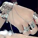 billiga Bröllopsskor till kvinnor-Dam Manschett Armband Ringarmband Kreativ Statement damer Överdrift Mode Armband Smycken Guld / Silver Till Kvällsfest Bar Cosplay Kostymer/Dräkter