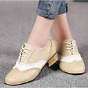 olcso Női Oxford cipők-Női PU Nyár Kényelmes Félcipők Vaskosabb sarok Zárt orrú Bézs / Szürke / Kávé / Party és Estélyi