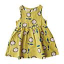 levne Polštářové potahy-Toddler Dívčí Základní / Cute Style Sedmikráska Květinový Bez rukávů Šaty Žlutá