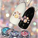 baratos Luminárias de Teto-4 pcs Jóias de Unhas Luminoso arte de unha Manicure e pedicure Casamento / Festa / Dia a Dia Metálico / Brilho & Glitter