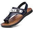 cheap Men's Sandals-Men's Microfiber Summer Comfort Sandals Black / Yellow / Blue