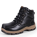 cheap Men's Sneakers-Men's Nappa Leather Fall & Winter Boots Hiking Shoes Black / Dark Brown / Khaki