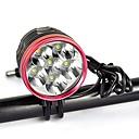 preiswerte Radlichter-Fahrradlicht LED Radlichter LED Radsport Professionell, Anti-Shock, Einfach zu tragen Wiederaufladbarer Akku 9000 lm Natürliches Weiß Camping / Wandern / Erkundungen / Für den täglichen Einsatz