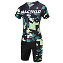 cheap Smartwatch Accessories-Malciklo Men's Short Sleeve Cycling Jersey with Shorts - Camouflage Camouflage Bike Clothing Suit, Breathable, 3D Pad, Quick Dry Coolmax®, Lycra Camouflage / High Elasticity / Advanced / SBS Zipper