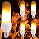 preiswerte LED Glühbirnen-5 Stück 3.5 W 300 lm E26 / E27 LED Mais-Birnen 99 LED-Perlen SMD 2835 Flamme flackert Gelb 85-265 V