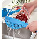 זול אביזרים למטבח-לוויתן סיר מסננת אורז פירות ירקות לשטוף colanders מטבח גאדג 'טים
