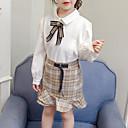 povoljno Kompletići za djevojčice-Djeca Djevojčice Karirani uzorak Dugih rukava Komplet odjeće