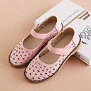 billige Clothing Accessories-Jente Sko Lær Vår sommer Komfort Sandaler Uthult til Barn Hvit / Rosa
