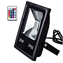 cheap LED Flood Lights-1pc 20 W LED Floodlight / Lawn Lights Remote Controlled / Waterproof / Decorative RGB 85-265 V Outdoor Lighting / Courtyard / Garden