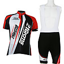 cheap Microscopes & Endoscopes-21Grams Men's Unisex Short Sleeve Cycling Jersey with Bib Shorts - Red / White Patchwork Classic Bike Clothing Suit, Breathable Quick Dry Polyester