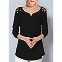 abordables Pelucas Sintéticas de Malla-Mujer Camisa, Escote en Pico Un Color