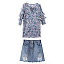 baratos Mochilas-Mulheres Blusa Floral Vestidos