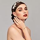 baratos Pulseiras-Mulheres Bracelete Pulseiras Algema - Coração Fashion Pulseiras Dourado / Prata Para Presentes de Natal Casamento Aniversário