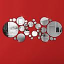 levne Samolepky na zeď-Ozdobné samolepky na zeď - Nálepky na zeď zrcadlové Tvary Obývací pokoj / Ložnice / Koupelna