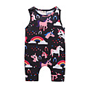 cheap Baby Girls' One-Piece-Baby Girls' Active / Basic Going out Print Sleeveless Cotton Romper / Toddler