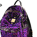 cheap Backpacks-Unisex Bags PU(Polyurethane) Backpack Glitter / Solid Gold / Black / Purple